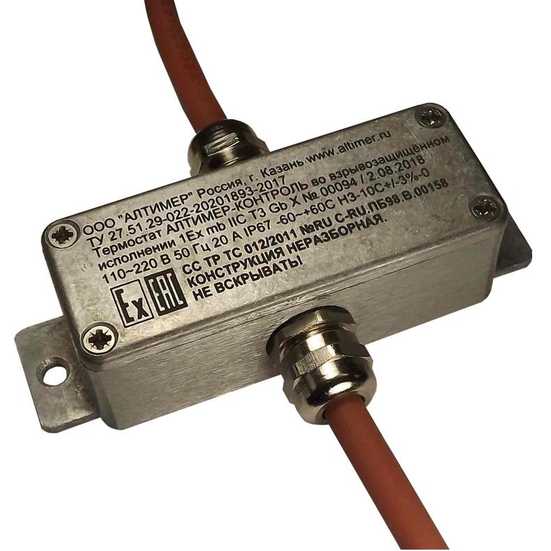 Взрывозащищённый щитовой термостат ТС-Ex Exd, Exm