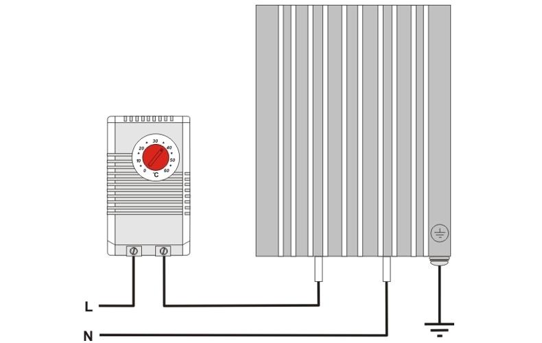 Шкафной щитовой конвекционный нагреватель ШКН 60В схема подключения