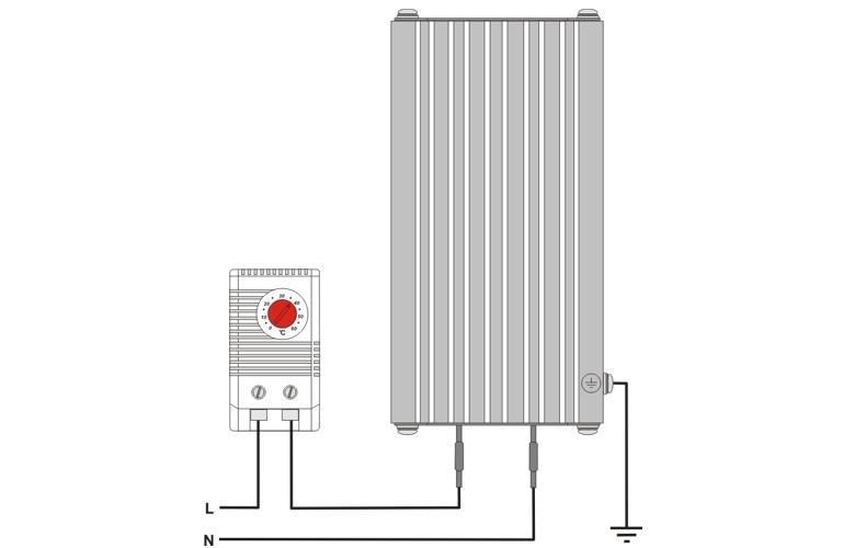 Шкафной щитовой конвекционный нагреватель ШКН схема подключения