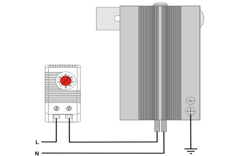 Шкафной щитовой конвекционный нагреватель ШКН 48В схема подключения