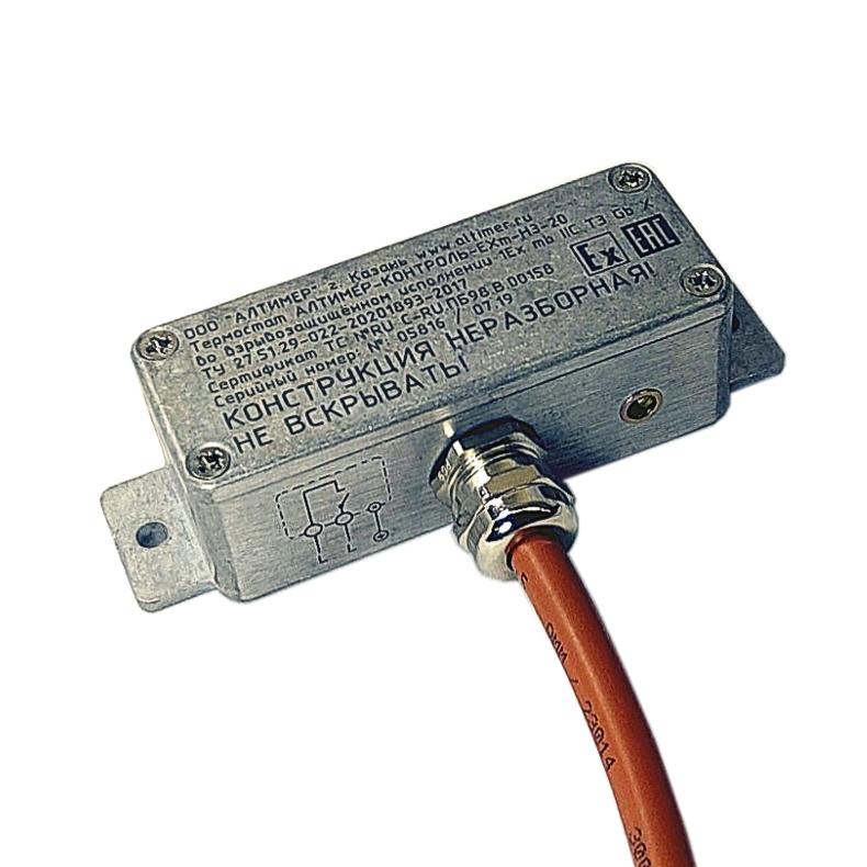 Взрывозащищённый щитовой термостат АЛТИМЕР-КОНТРОЛЬ-Exm выносной ТС-Ex Exd, Exm